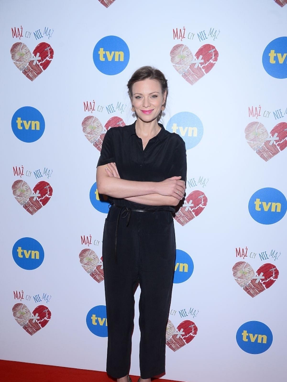 Magdalena Boczarska na konferencji serialu Mąż czy nie mąż