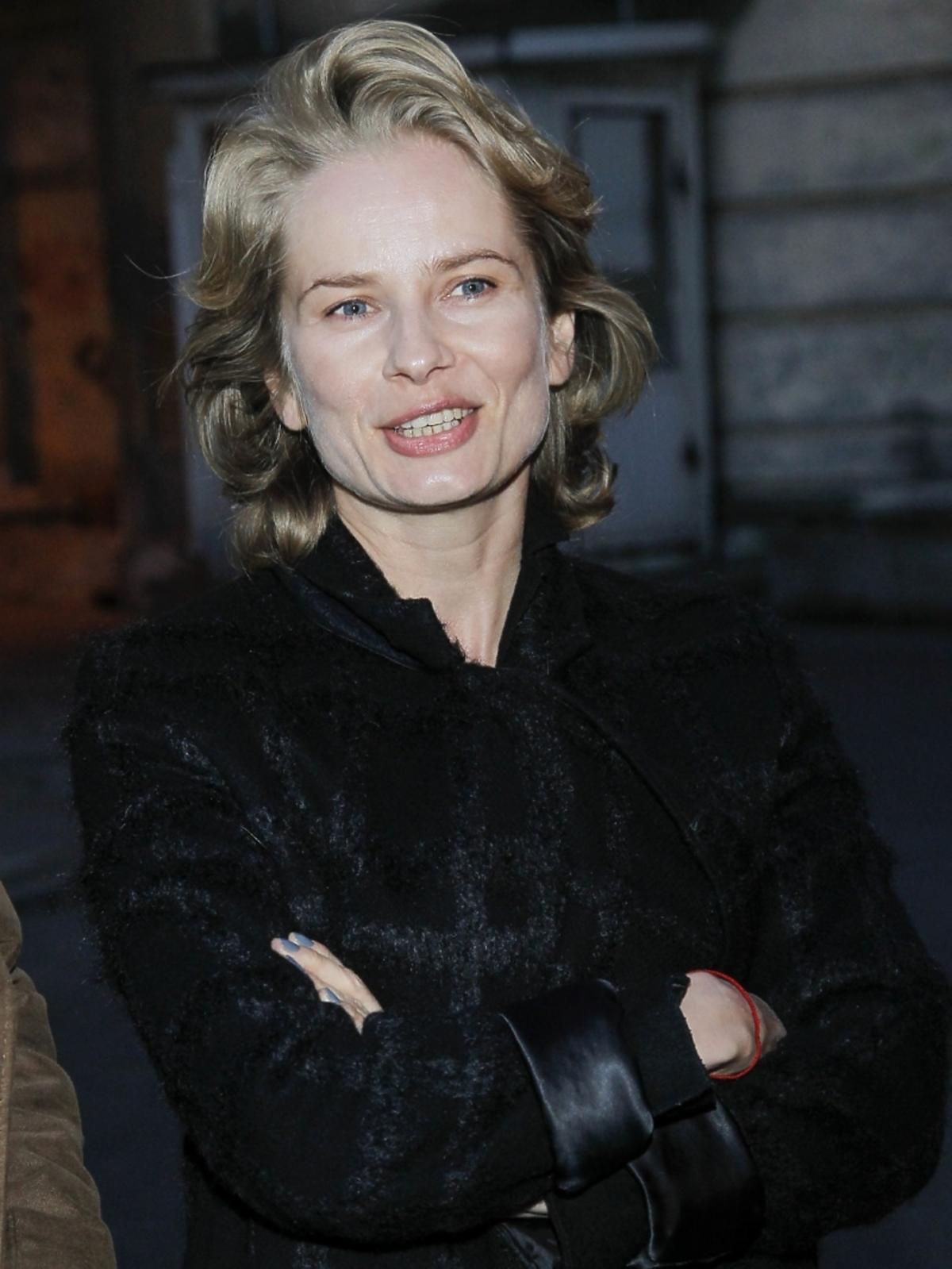 Magdalena Cielecka na premierze spektaklu
