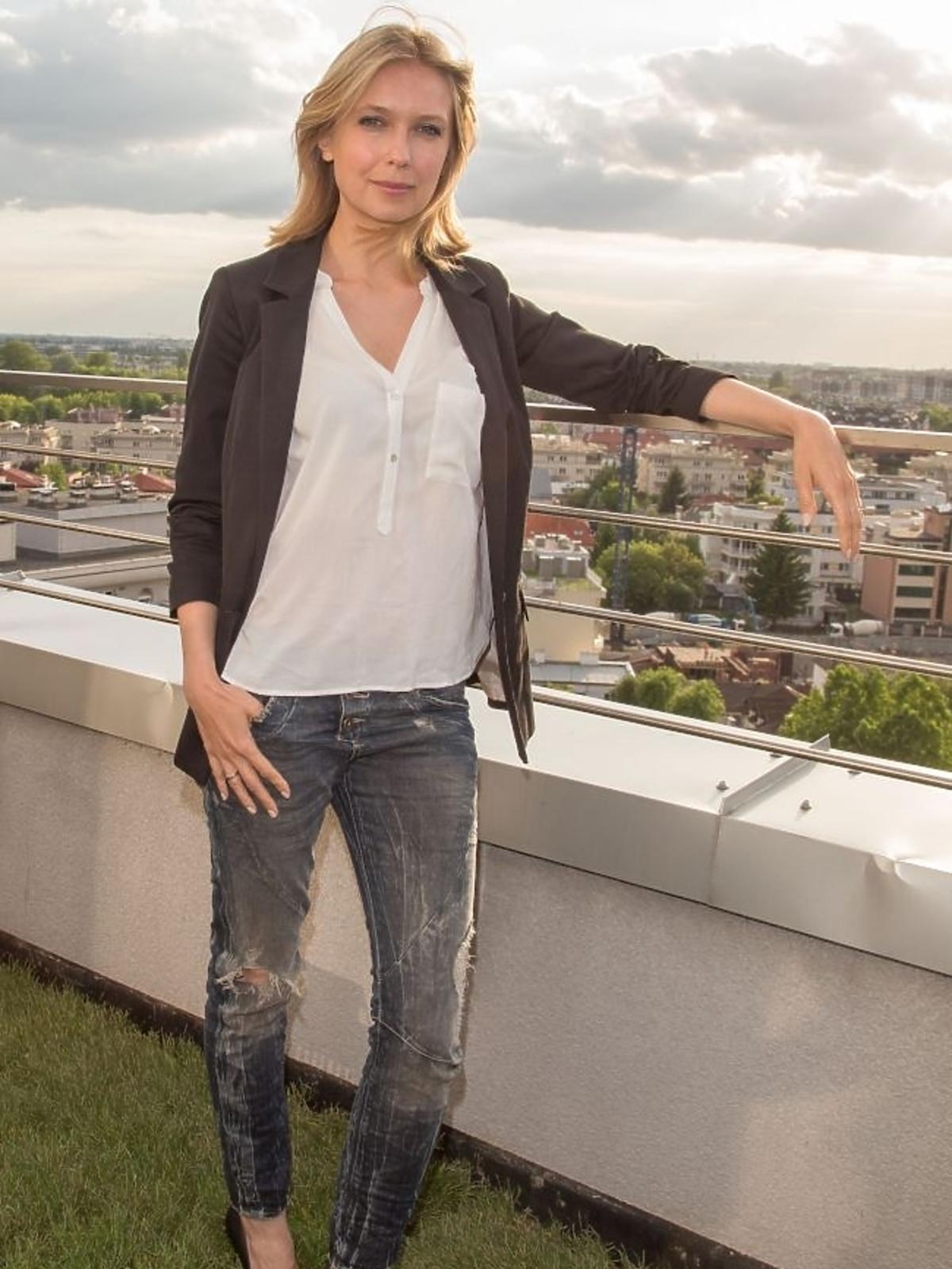 Magdalena Górska na otwarciu kliniki medycyny estetycznej