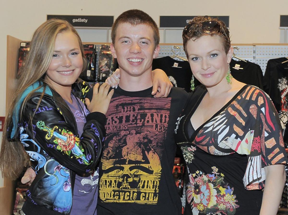 Magdalena Lamparska, Alan Andersz, Daria Widawska na planie 39 i pół