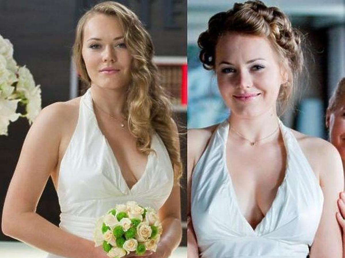 "Magdalena Lamparska jako panna młoda w ""Hotelu 52"""