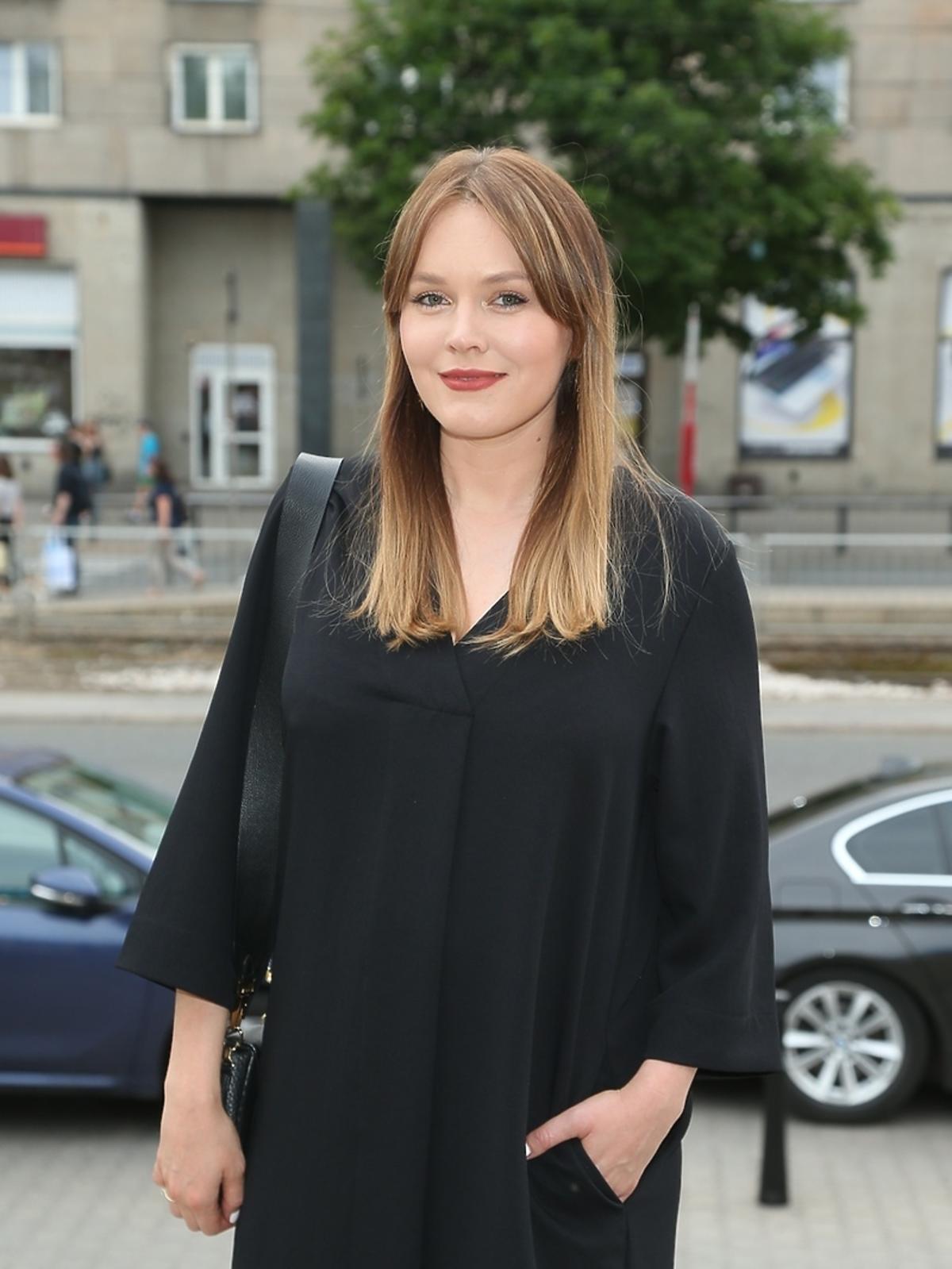 Magdalena Lamparska na premierze w Och-Teatrze