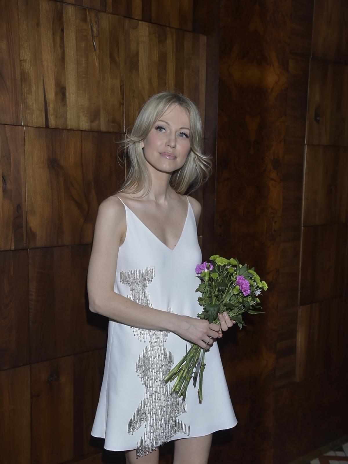 Magdalena Ogórek na pokazie La Mania