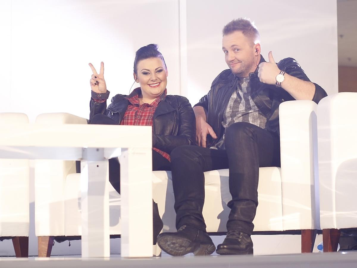 Magdalena Paradziej i Przemek Radziszewski na koncercie w Złotych Tarasach