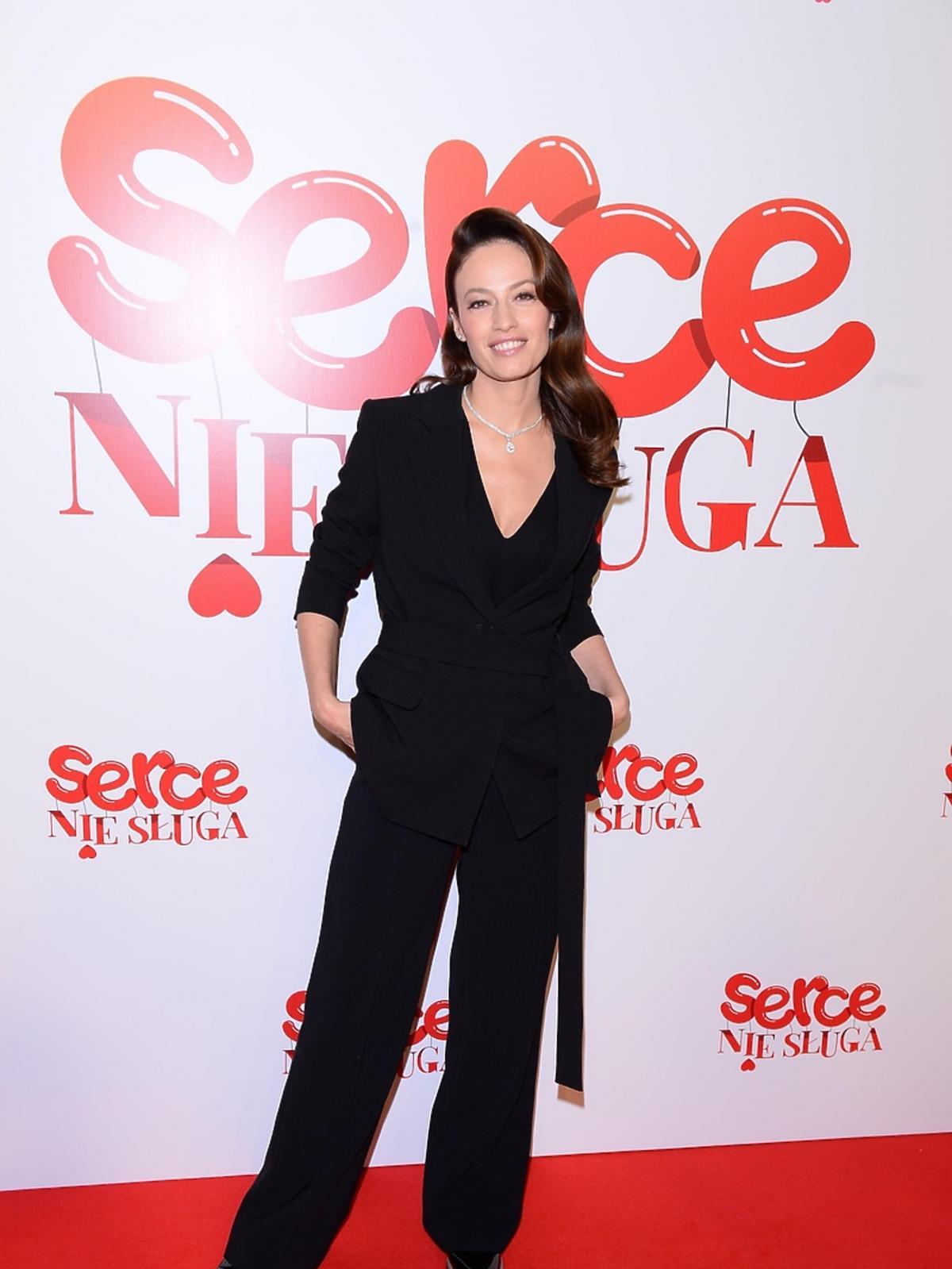 Magdalena Różczka na premierze filmu