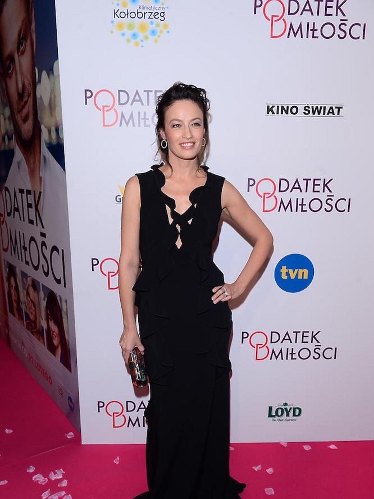 Magdalena Różczka na premierze Podatek od miłości