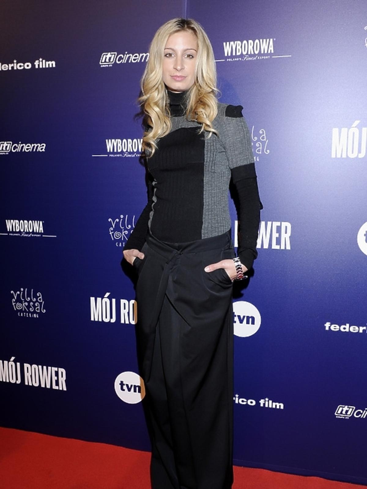 Magdalena Schejbal na premierze filmu