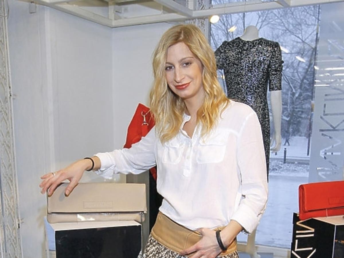 Magdalena Schejbal w spódnicy od Joanny Klimas