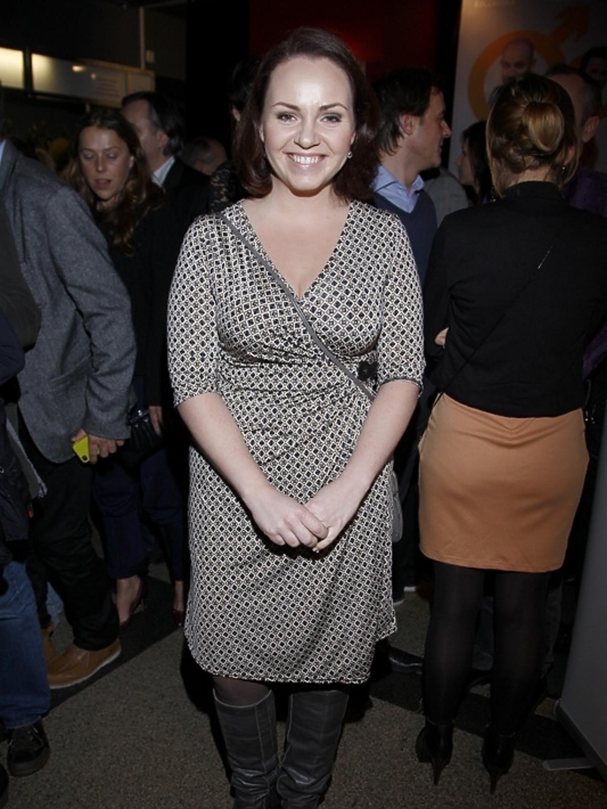 Magdalena Smalara na premierze spektaklu