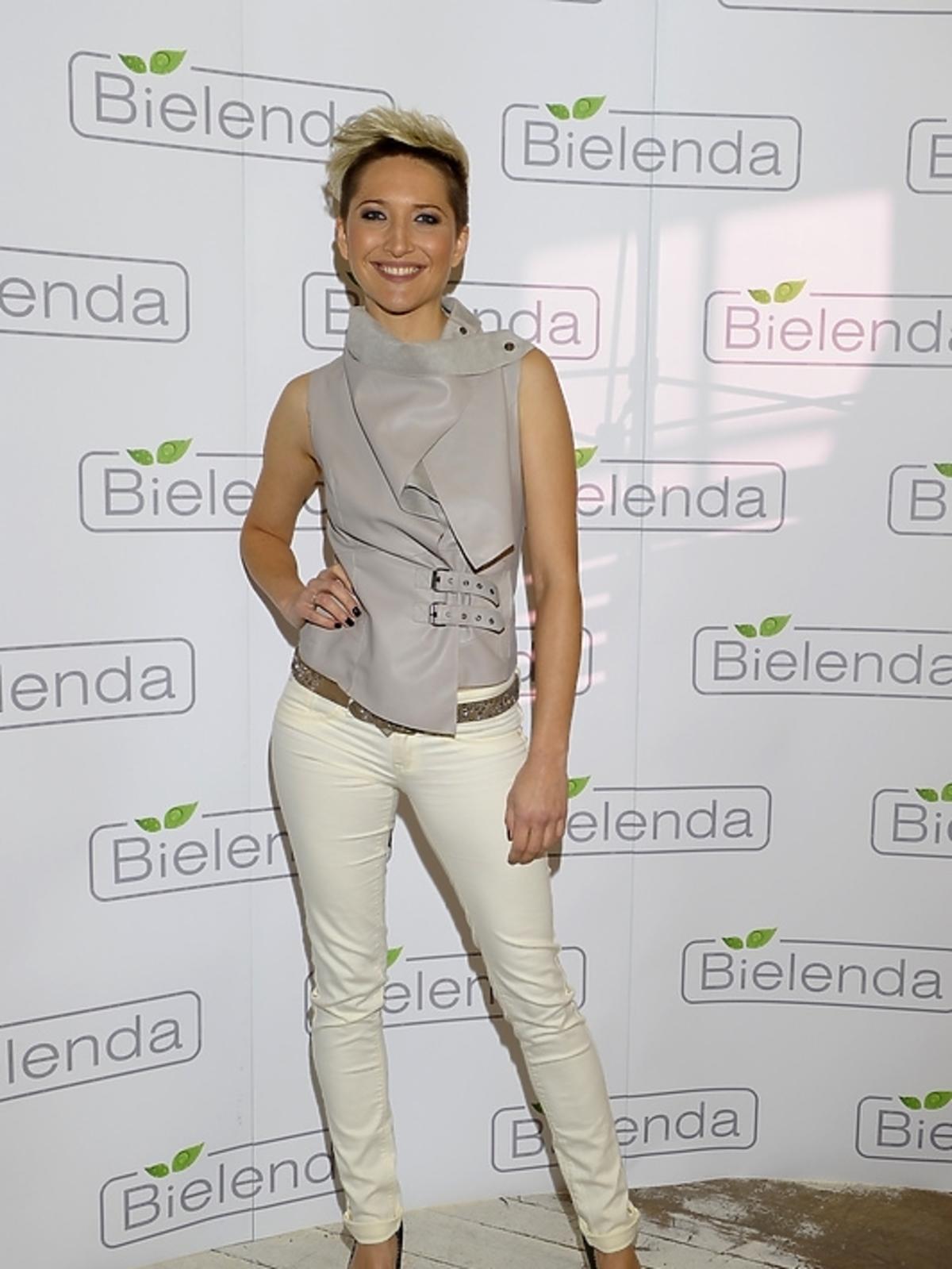 Magdalena Steczkowska na prezentacji kosmetyków marki Bielenda