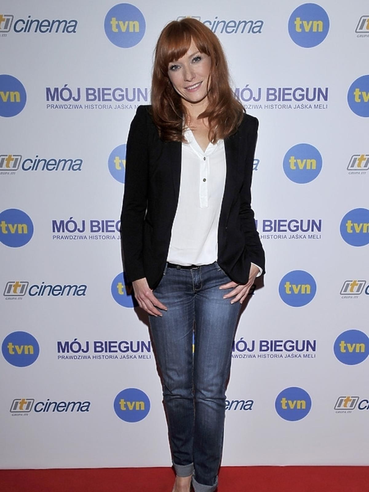 Magdalena Walach na konferencji prasowej filmu