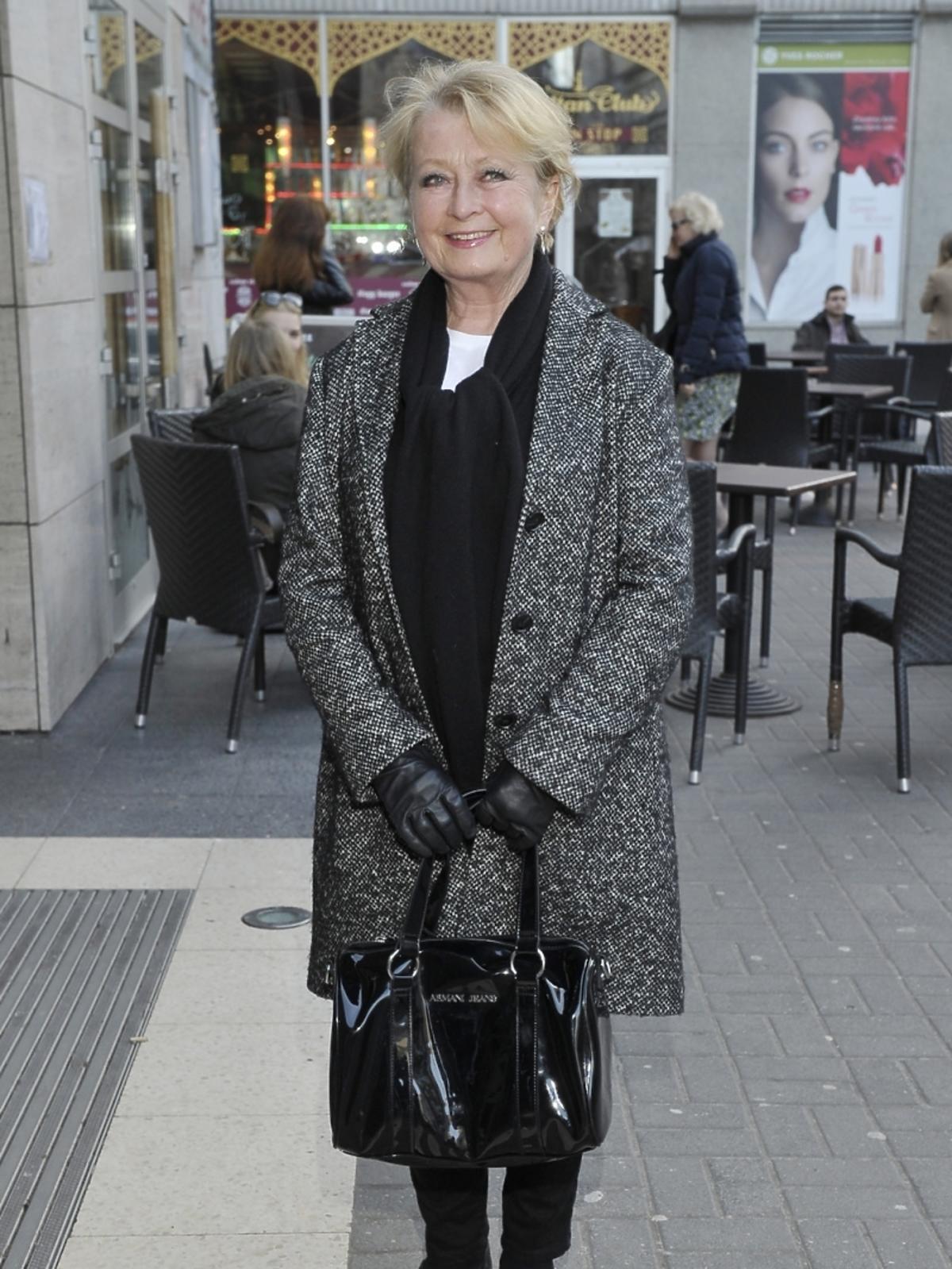 Magdalena Zawadzka na premierze książki Leonarda Pietraszaka
