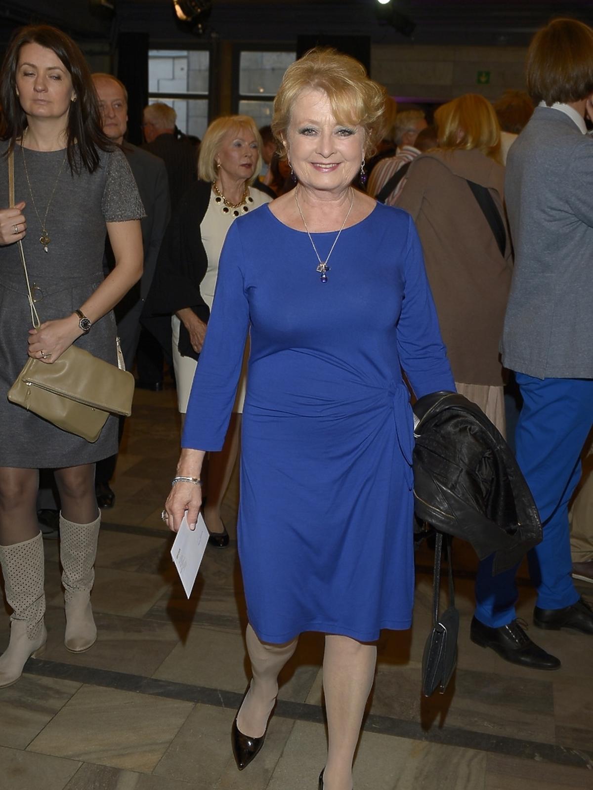 Magdalena Zawadzka na premierze spektaklu