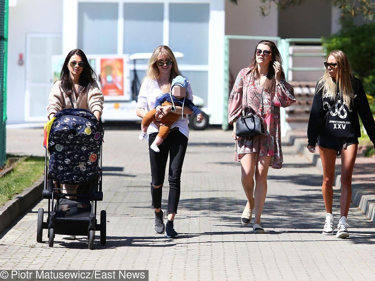 Maja Bereszyńska, partnerka Marcina Kamińskiego, Alaksendra Adamczyk, partnerka Dawida Kownackiego, partnerka Karola Linetty
