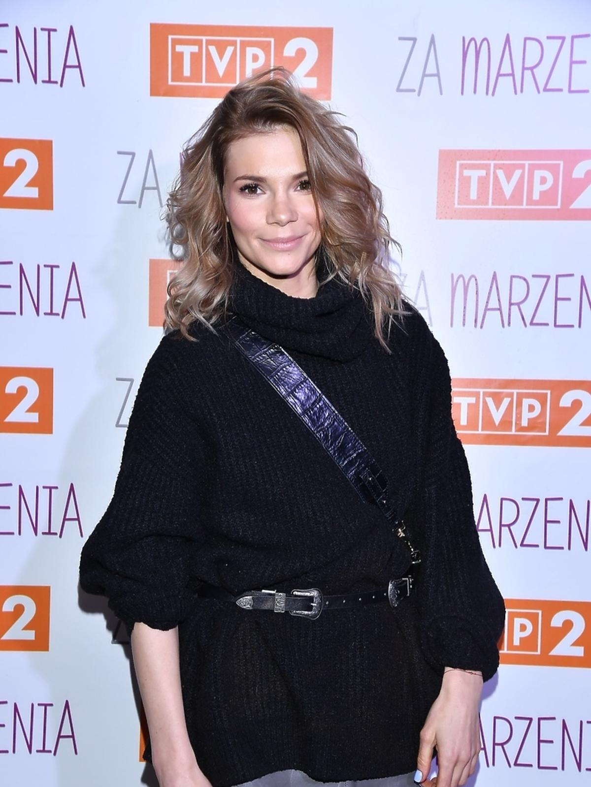 Maja Bohosiewicz na bankiecie serialu