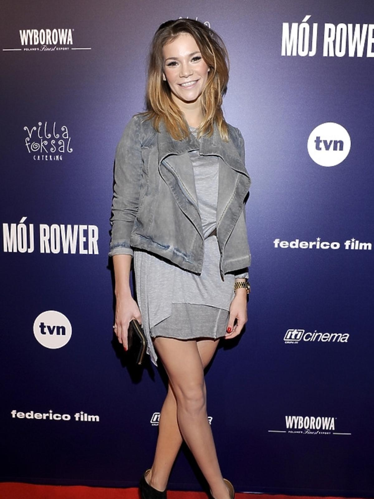 Maja Bohosiewicz na premierze filmu