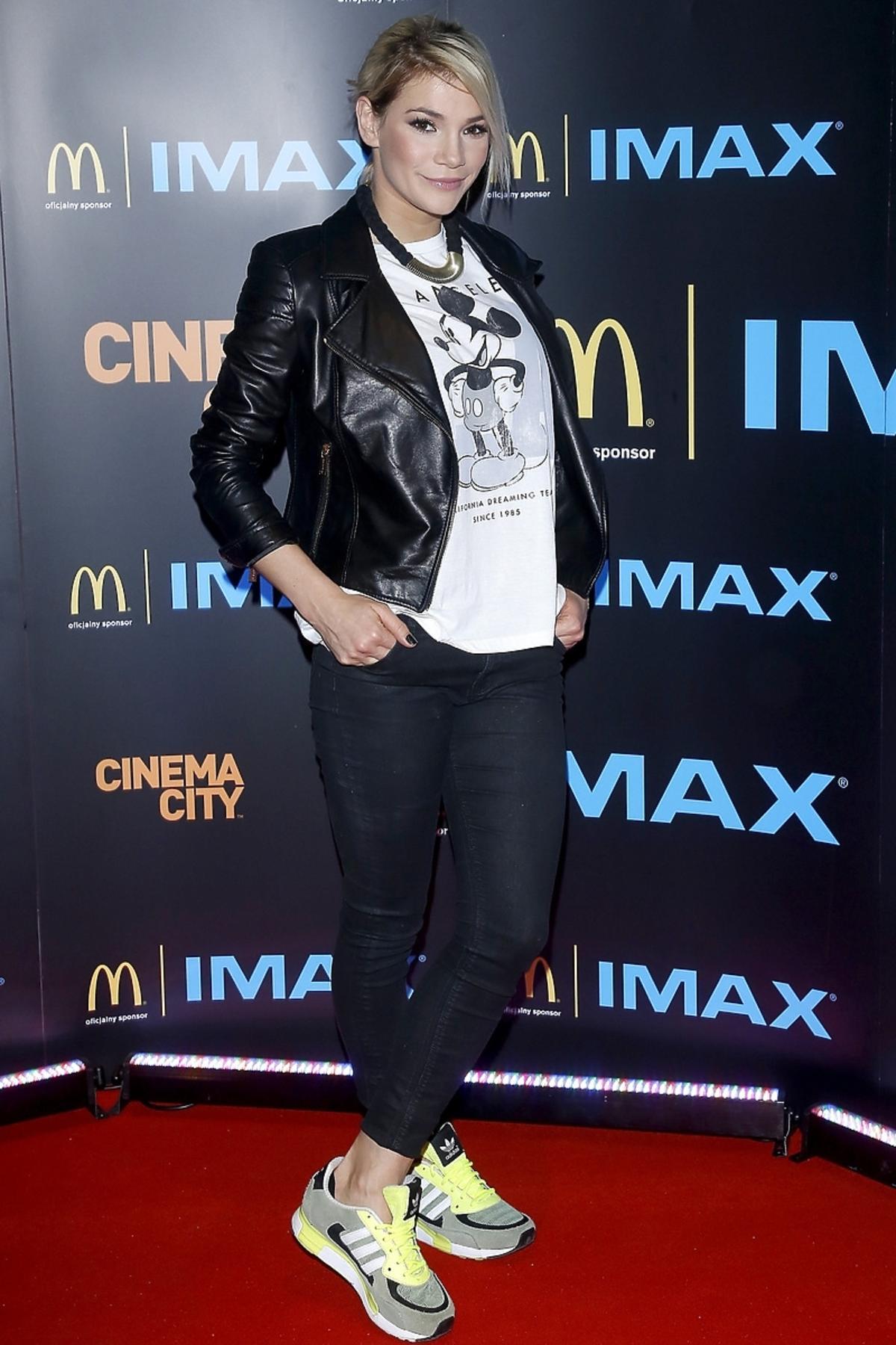 Maja Bohosiewicz na premierze Hobbita w kinie IMAX