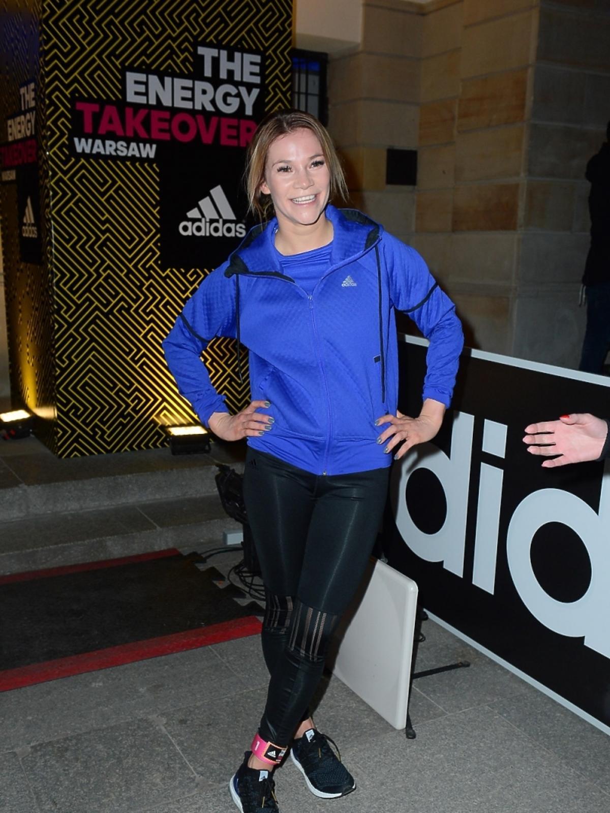 Maja Bohosiewicz na sportowej imprezie