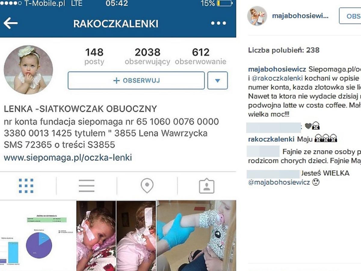 Maja Bohosiewicz wspiera akcję charytatywną