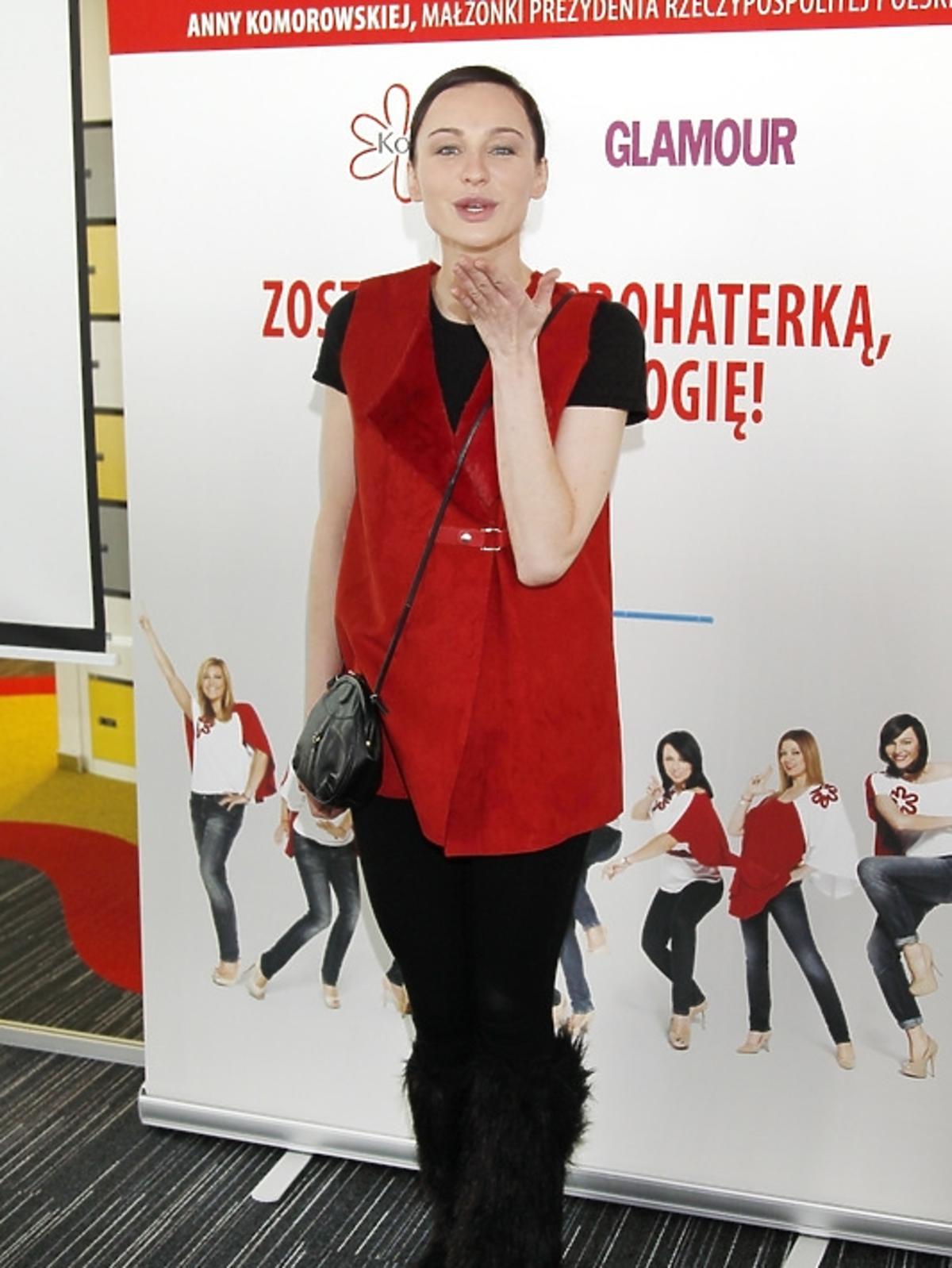 Maja Hirsh podczas spotkania Honeymoon dla Kwiatu Kobiecości