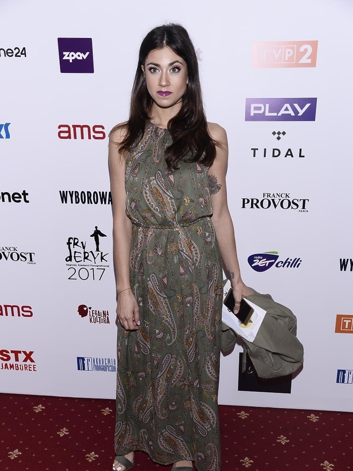 Maja Hyży podczas gali Fryderyki 2017