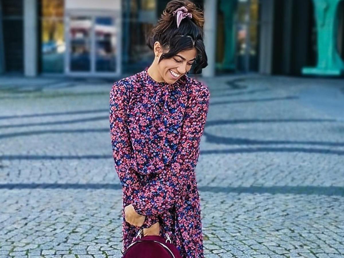 Maja Hyży w romantycznej sukience w kwiaty