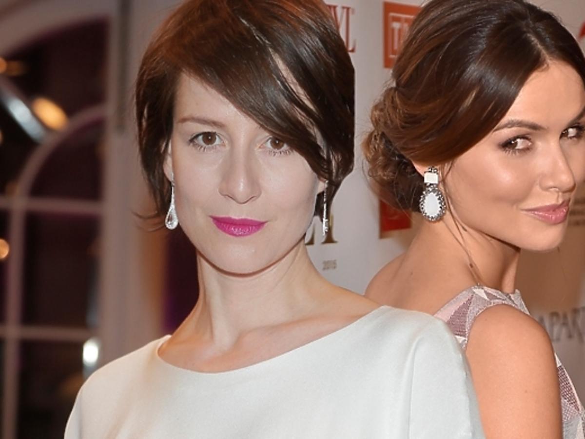 Maja Ostaszewska  i Marta Żmuda Trzebiatowska na gali Orły 2015