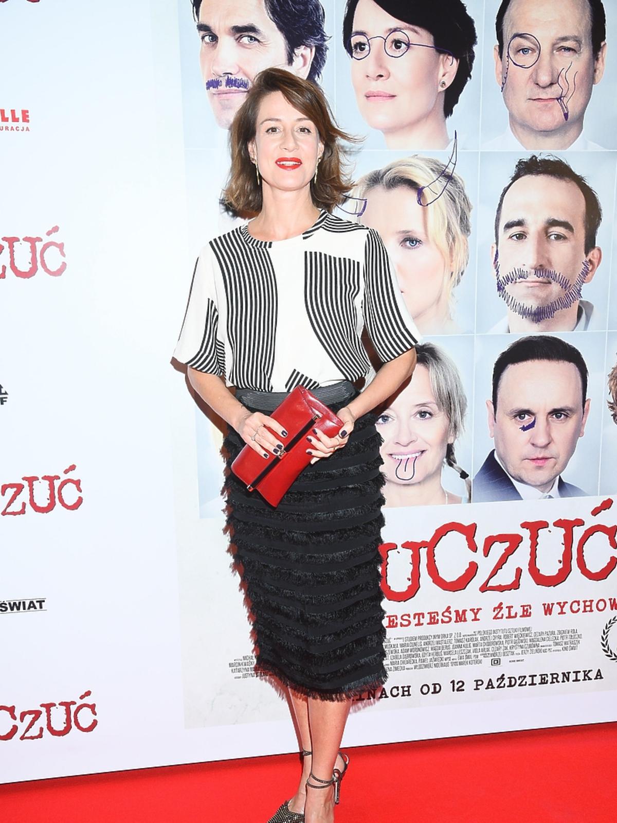 Maja Ostaszewska na premierze