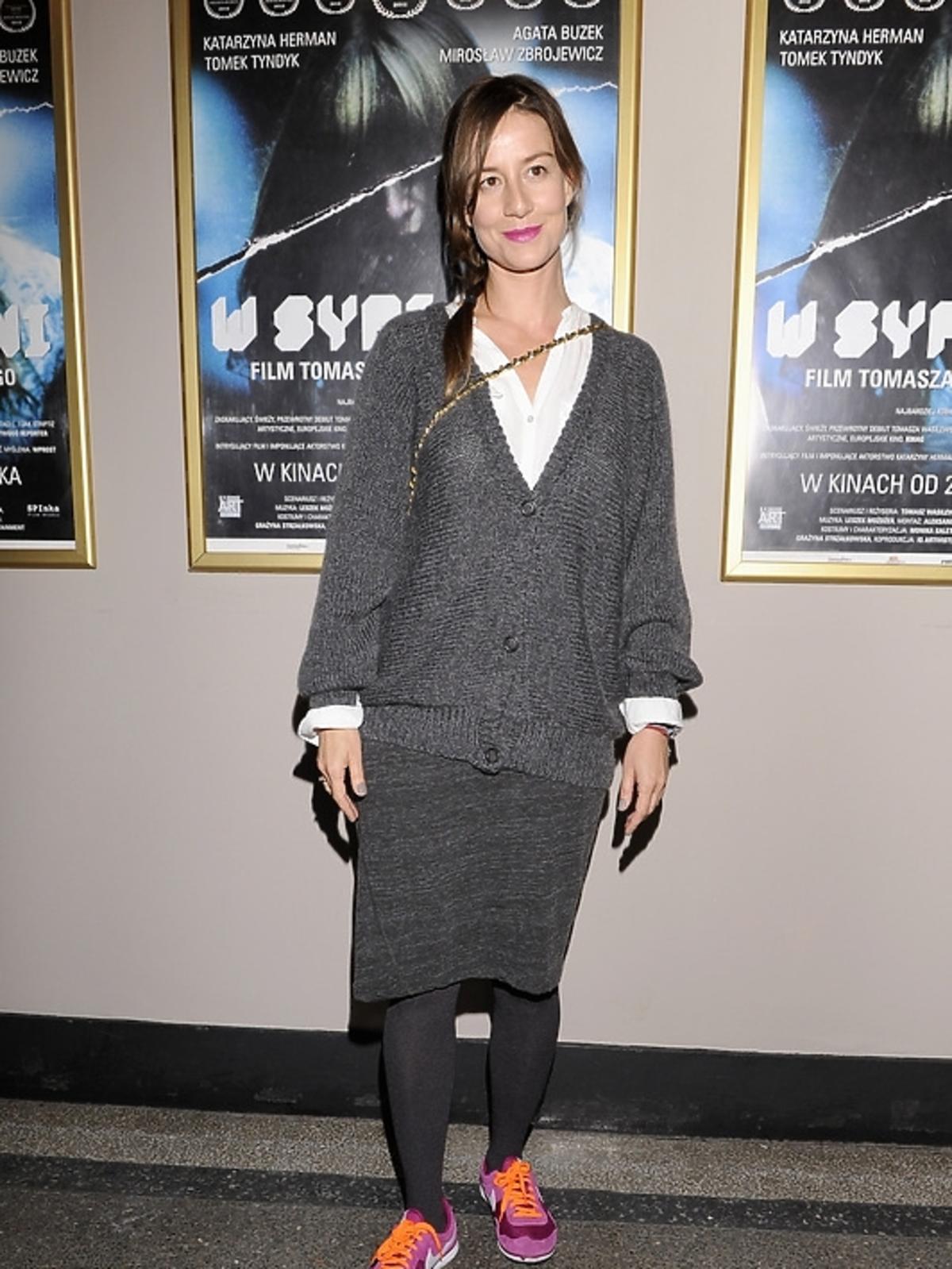 Maja Ostaszewska na premierze filmu