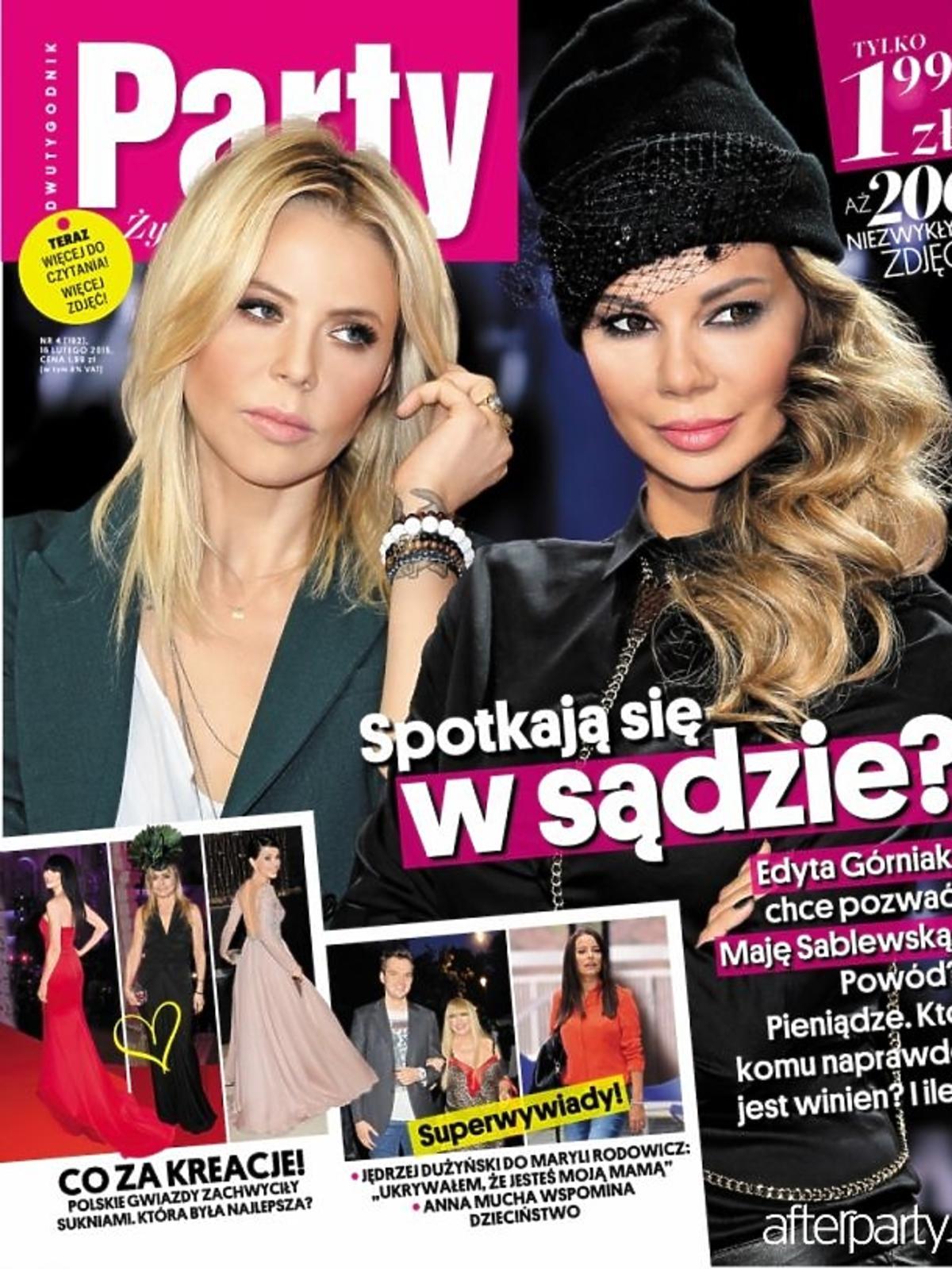 Maja Sablewska i Edyta Górniak  na okładce Party