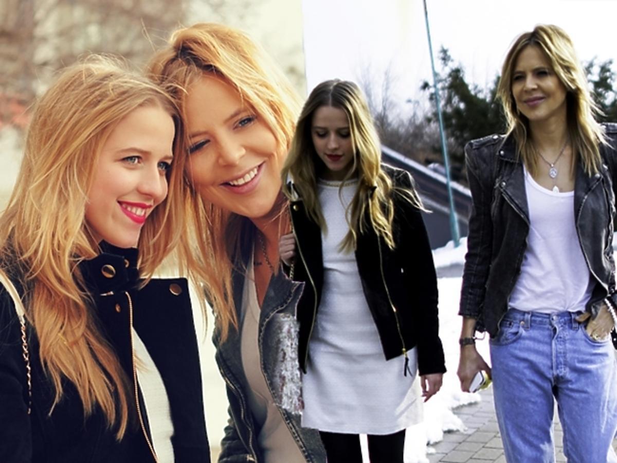 Maja Sablewska i Jessica Mercedes na spacerze