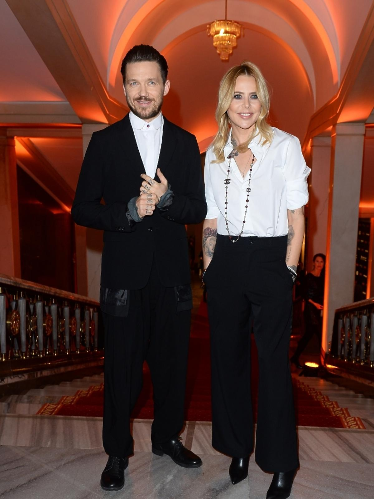 Maja Sablewska i Wojtek Mazolewski na imprezie Flesz Fashion Night