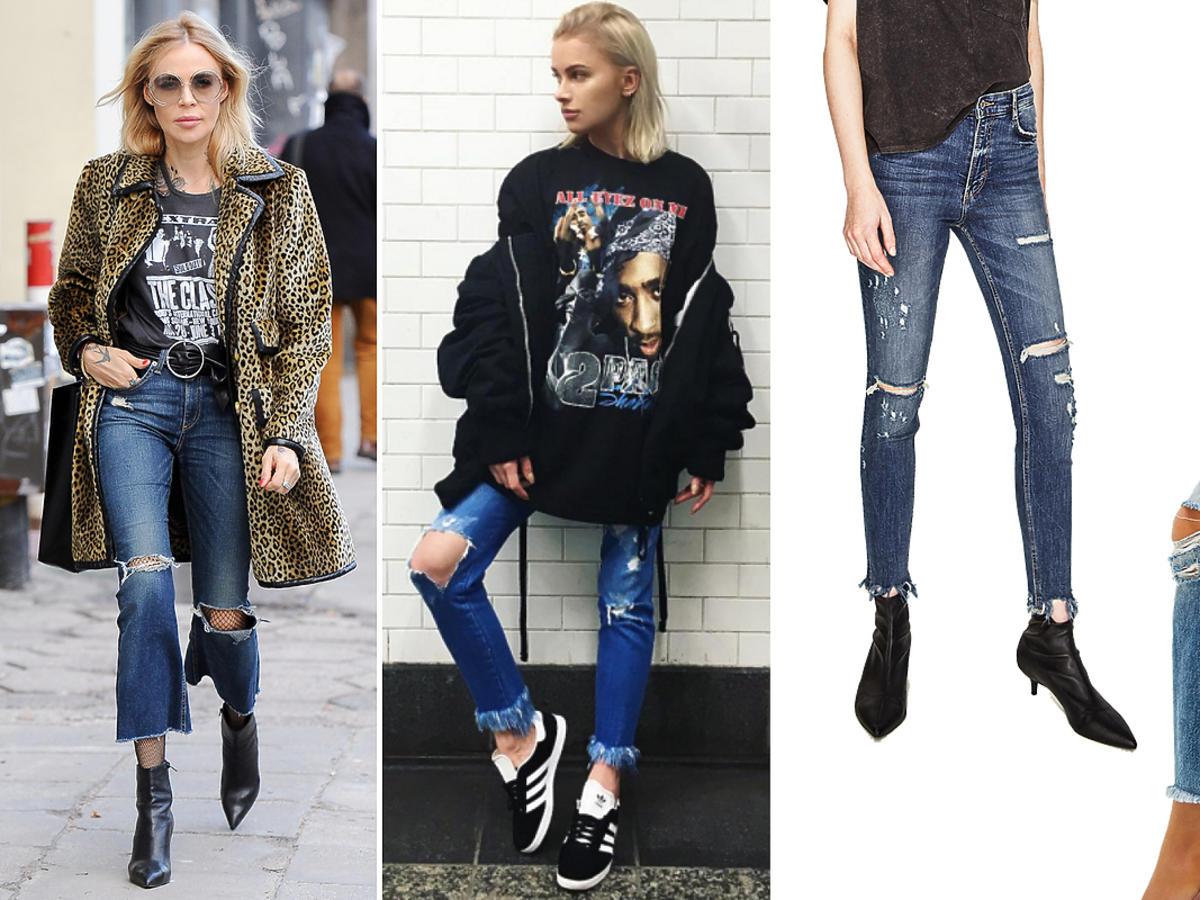 Maja Sablewska, Maffashion: dżinsy z postrzępionymi nogawkami - rurki, boyfriend, Zara H&M Reserved