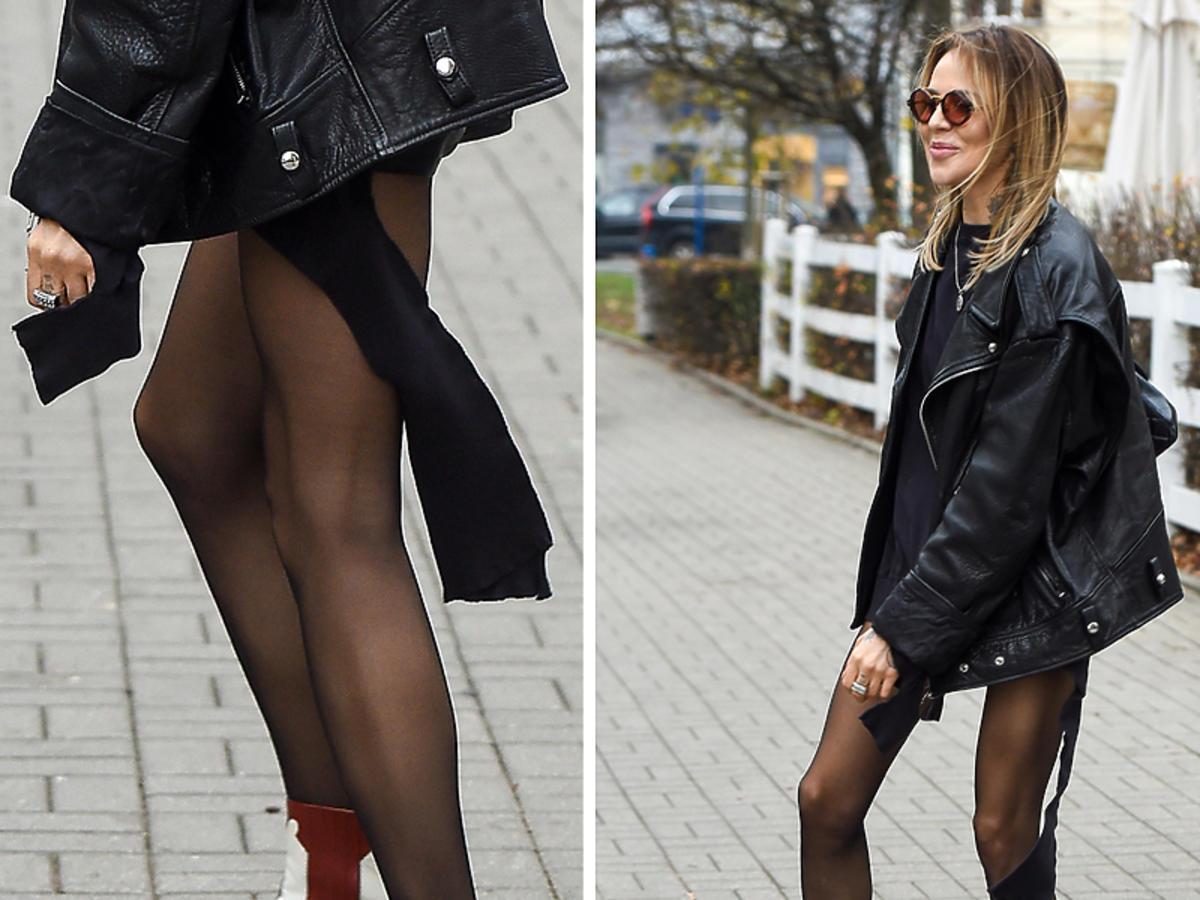 Maja Sablewska w czarnej stylizacji w kowbojkach Melvin & Hamilton i z torebką Chanel