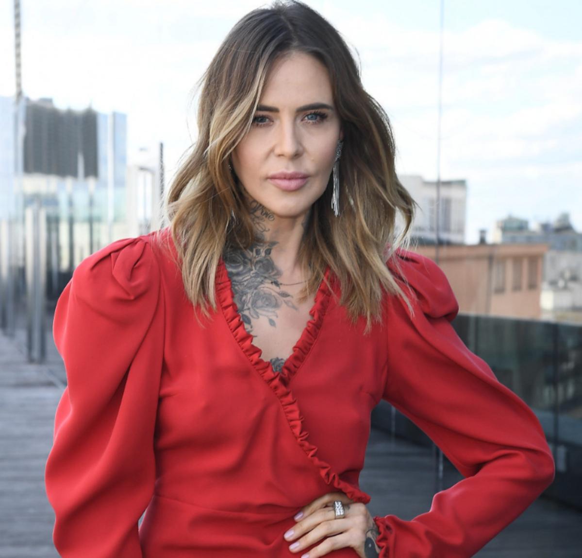 Maja Sablewska w czerwonej sukience
