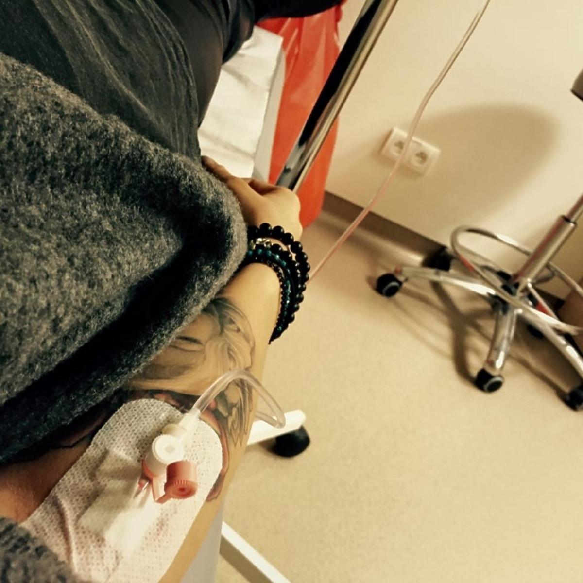Maja Sablewska w szpitalu