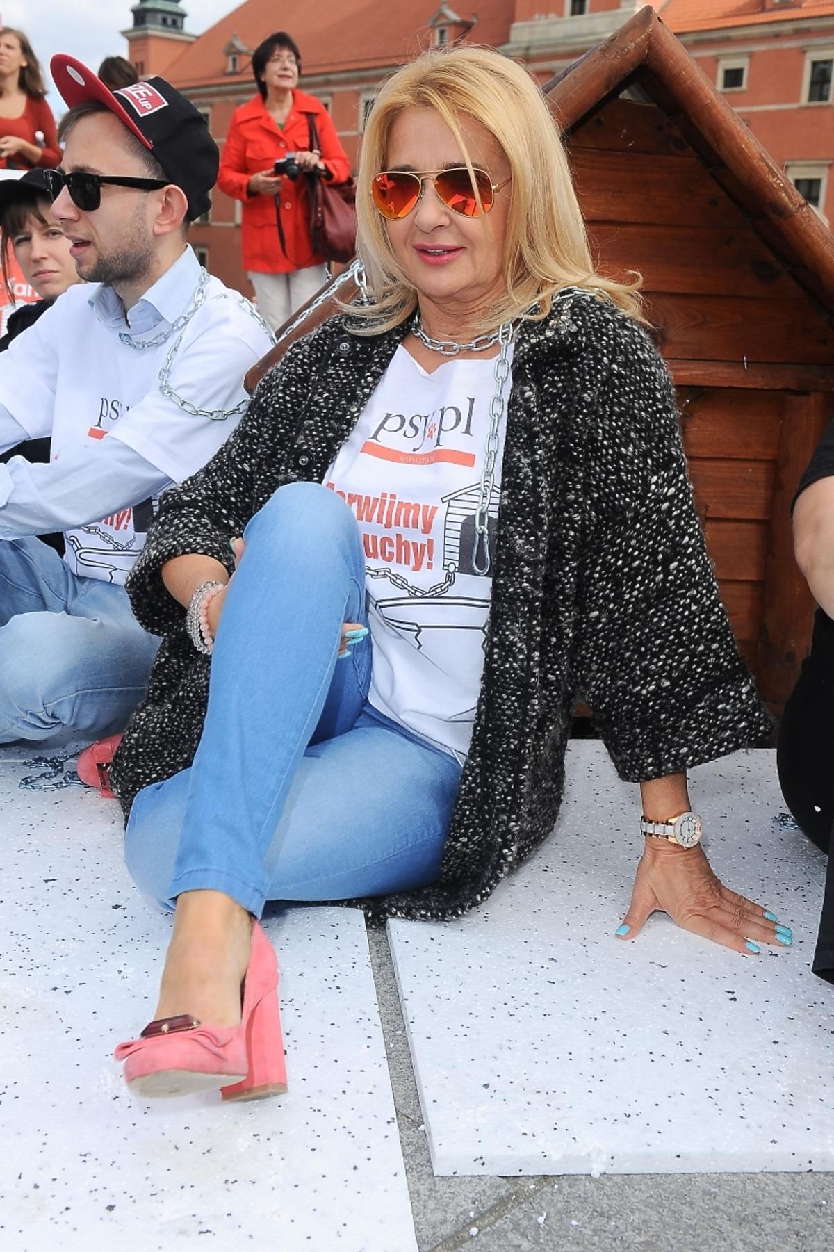 Majka Jeżowska w akcji Zerwijmy Łańcuchy 2014