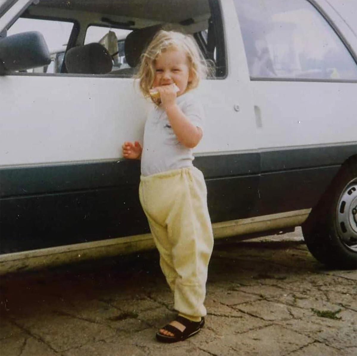 Mała Ania Lewandowska, zdjęcie z archiwum trenerki