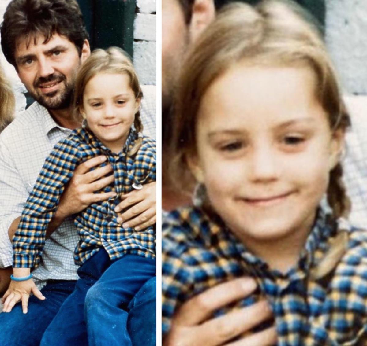 Mała księżna Kate Middleton z ojcem, Michaelem Middleton