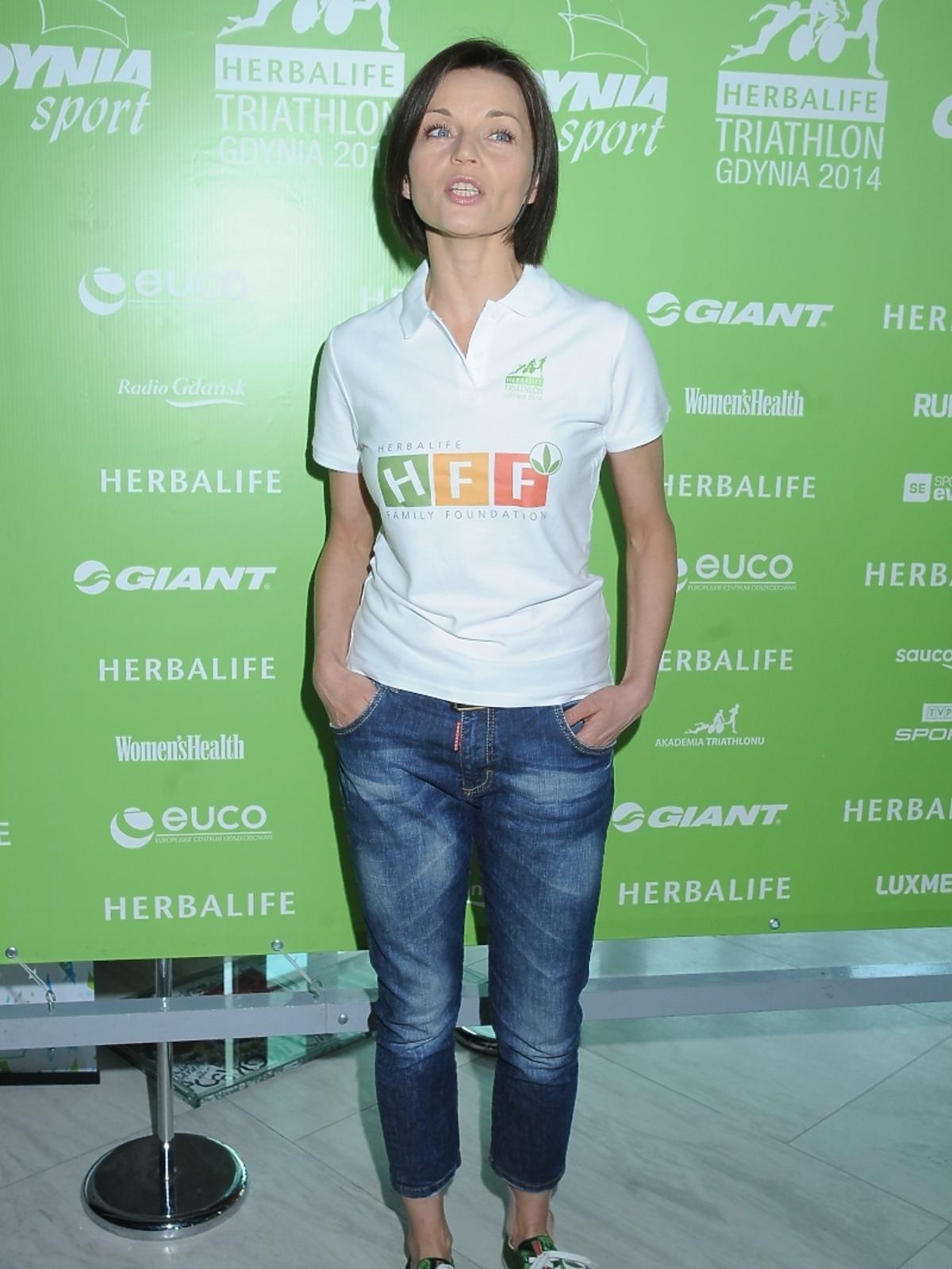 Małgorzata Foremniak na konferencji Herbalife Triathlon Gdynia 2014