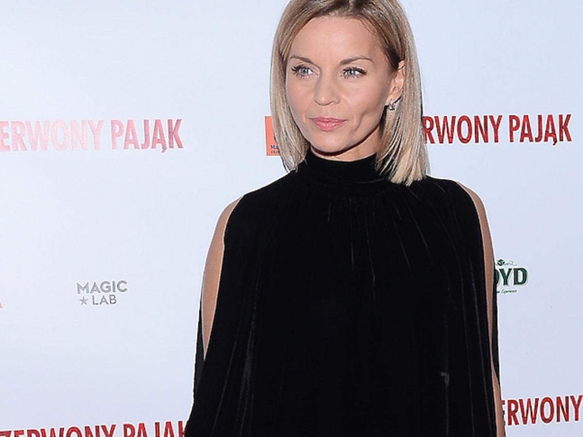 Małgorzata Foremniak na premierze filmu Czerwony Pająk