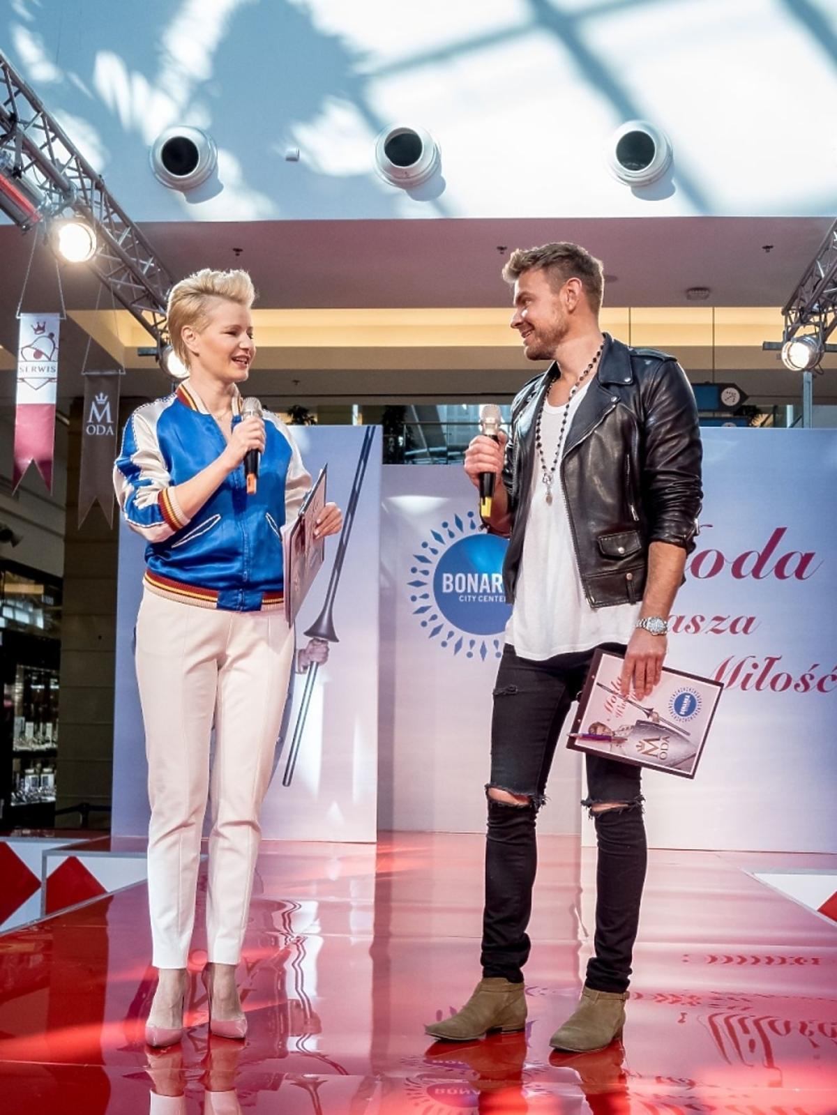 Małgorzata Kożuchowska i Dawid Woliński w Bonarce