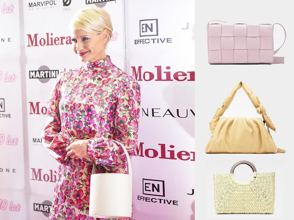 Małgorzata Kożuchowska i modne torebki na lato 2021