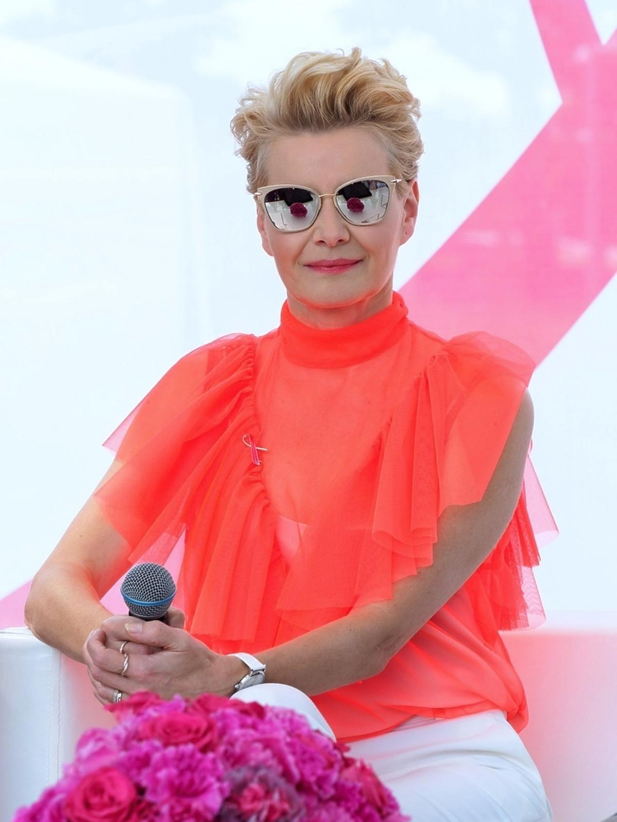 Małgorzata Kożuchowska na Dniu Różowej Wstążki
