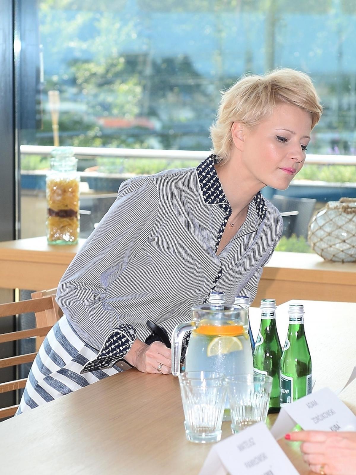 Małgorzata Kożuchowska na konferencji serialu Rodzinka.pl