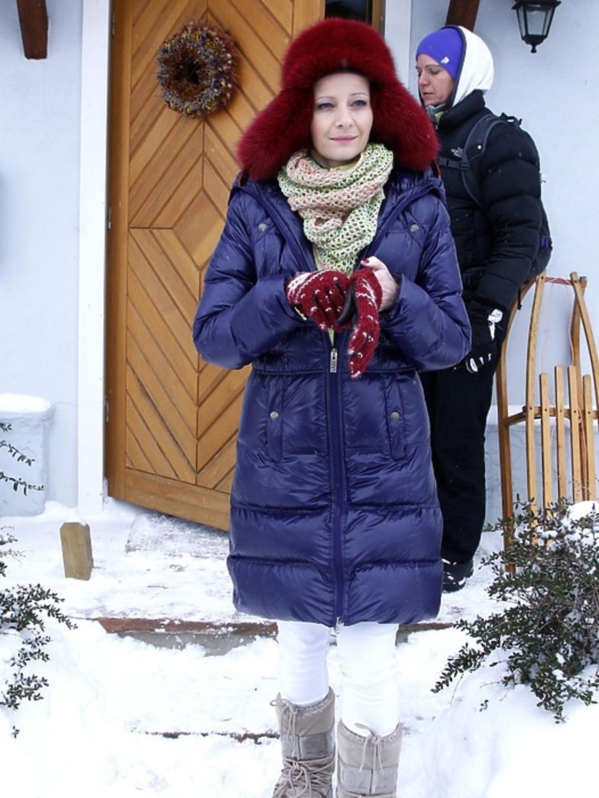 Małgorzata Kożuchowska na planie serialu