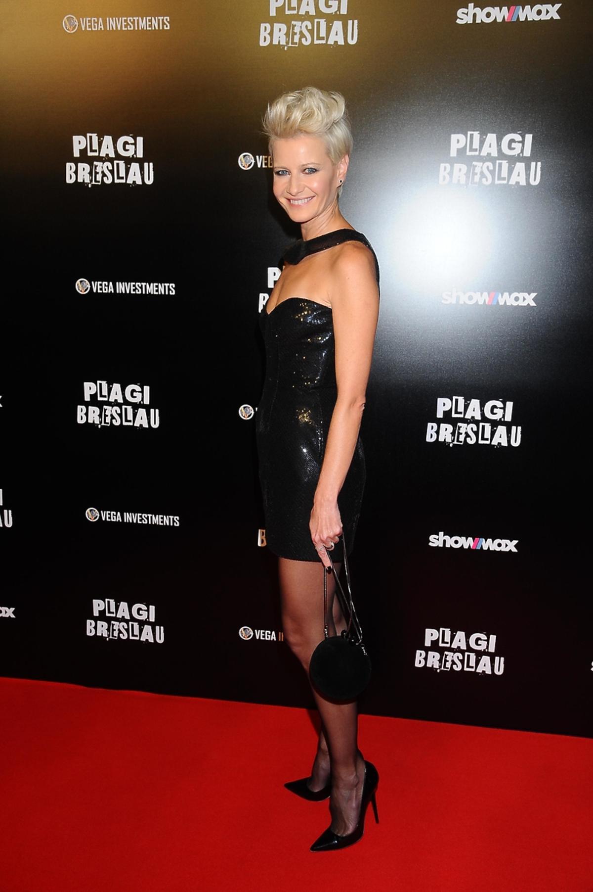 Małgorzata Kożuchowska na premierze filmu