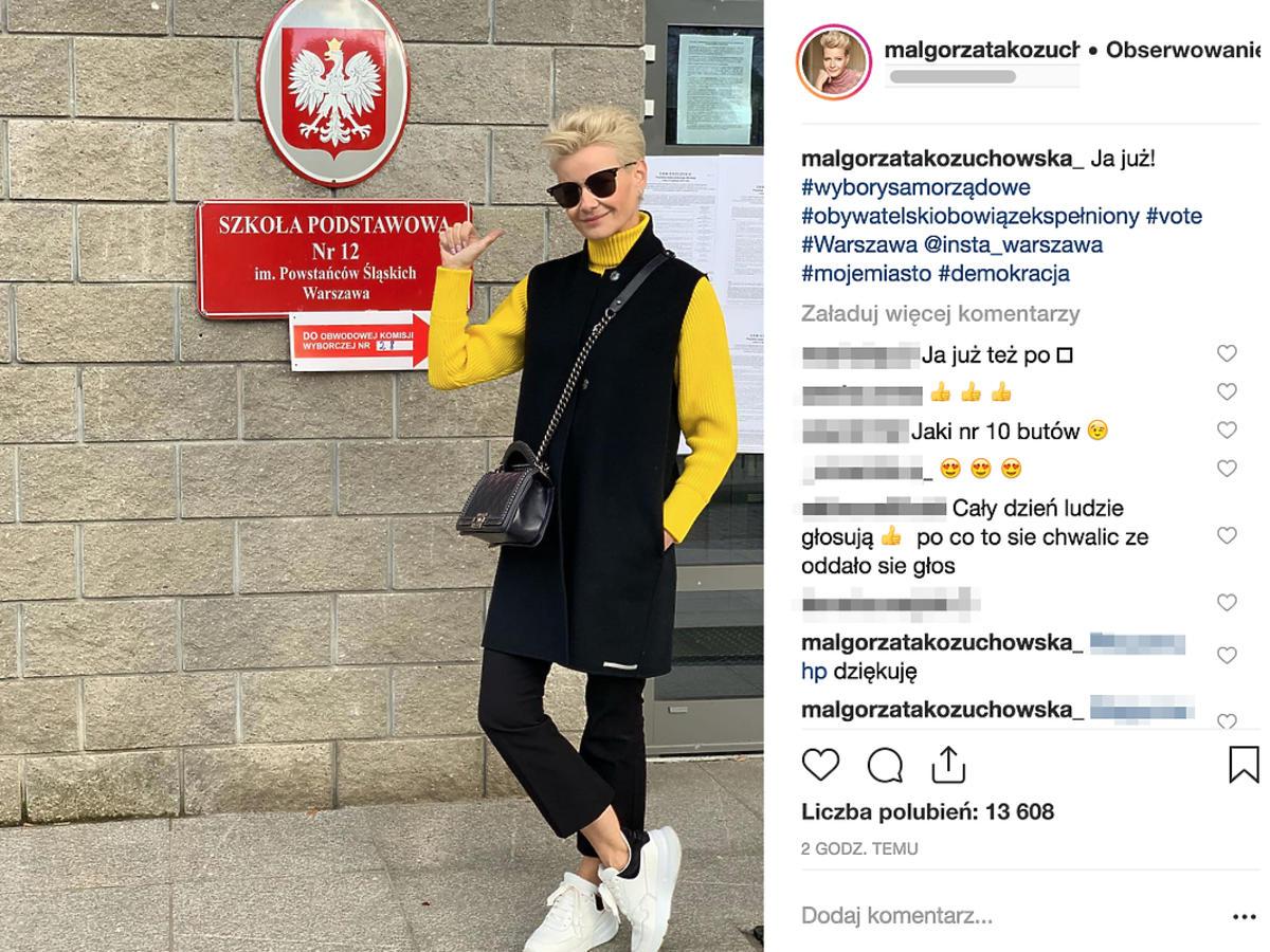 Małgorzata Kożuchowska  oddała głos w wyborach samorządowych