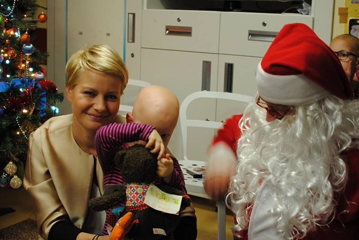 Małgorzata Kożuchowska odwiedziła dzieci w szpitalu