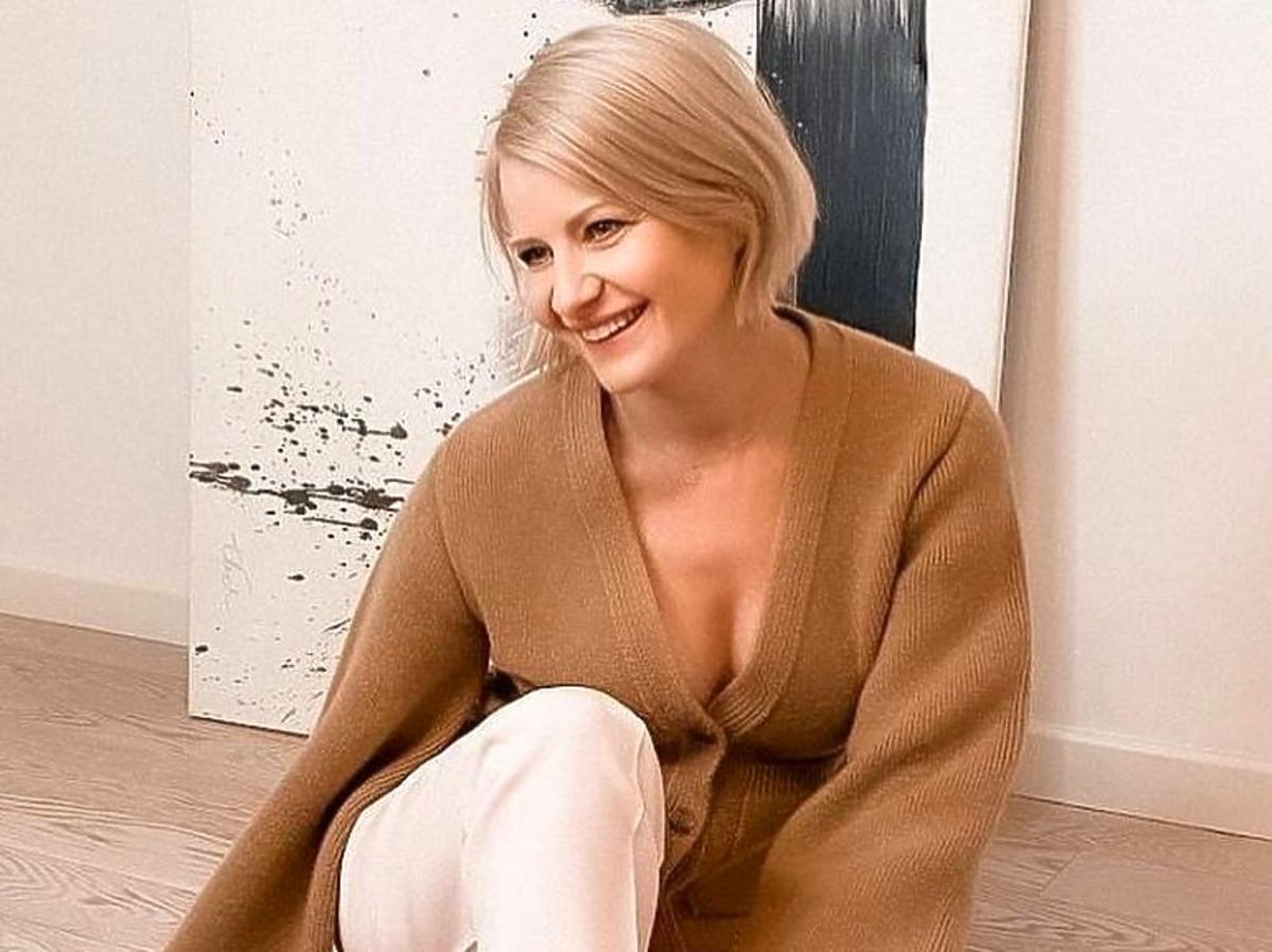 Małgorzata Kożuchowska w hitowym swetrze na wiosnę